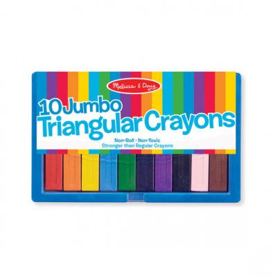 Jumbo Triangular Crayons (Set of 10)